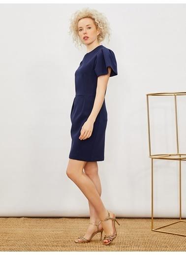 Vekem-Limited Edition Elbise Lacivert